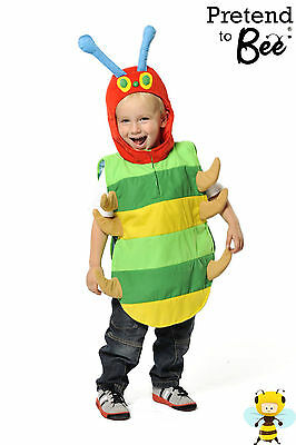 KIDS CHILDRENS CHILDS HUNGRY CATERPILLAR INSECT MINIBEAST TABARD COSTUME AGE - Hungry Caterpillar Kostüm