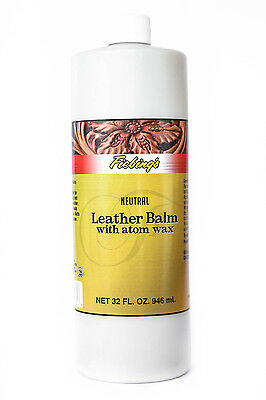 Fiebing's Leather Balm w/Atom Wax Cleaner Softener Protector Top Finish 32 oz