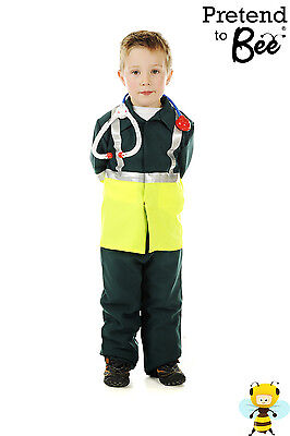 GIRLS BOYS KIDS CHILDRENS PARAMEDIC OUTFIT FANCY DRESS COSTUME AGE 3 4 5 6 7](Paramedic Costume)