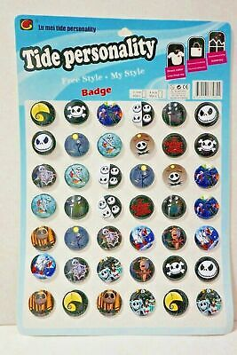 Nightmare Before Christmas Pin Badges Button Party Bag Fillers Birthday Party  Christmas Pin Buttons