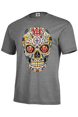 Suger Skull With Red Roses TShirt Assorted Colors Kids S6-8-XL18-20 Adult S-5XL ](Suger Skull)