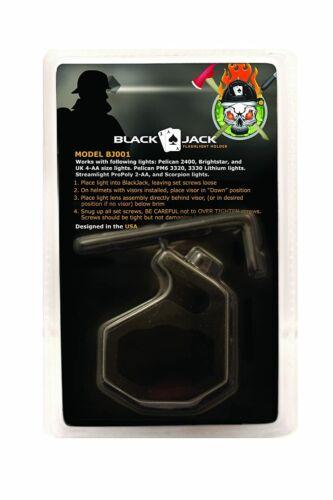 """Blackjack BJ001 6061 Aluminum Firefighter Helmet Flashlight Holder, 1"""" Lights"""