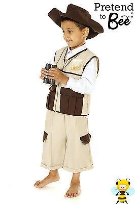 CHILDRENS KIDS BOYS SAFARI RANGER HUNTER JUNGLE EXPLORER COSTUME OUTFIT AGE 3-7 - Kids Safari Costumes