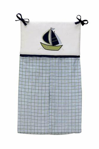 Nautica Kids Zachary Diaper Stacker Blue Sailor Boat Plaid Newborn Gift