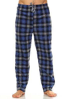 Flannel Mens Pajamas - New Mens Flannel Fleece Pajama Pant Lounge Pants, PJ Pants