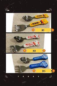 Assorted Cartoon Toddler Spoon & Fork set