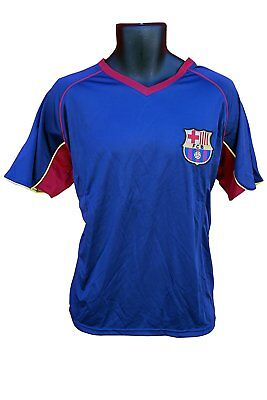 ae8b358aeee FC Barcelona Soccer Officially Licensed Adult Poly Jersey 002 Rhino