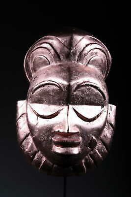 Art Contemporary African Mask Bamoun Colours Copper 118