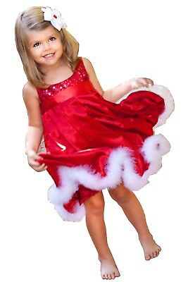 Girls Christmas Party Dress Girls Red  Sequined Sleeveless Dress](Girls Red Christmas Dresses)