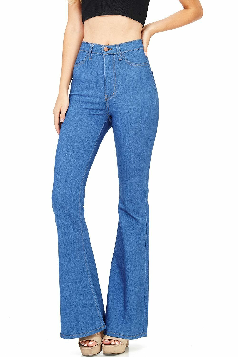 Vibrant New Women's Classic Fit Denim High Rise Flared Bell