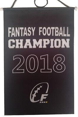 2016 2017 2018 FFL Fantasy Football Championship Banner Flag Trophy, 8.2