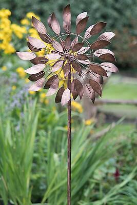 New Creekwook Wind Spinner- Garden Leaves - Brushed Copper- Wind Spinner