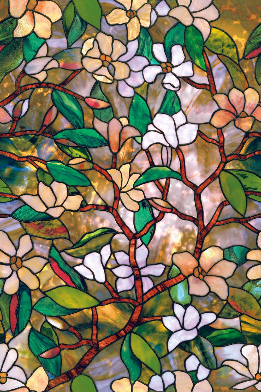"""Artscape 01-0113 24"""" X 36"""" Magnolia Design Window Film"""