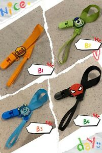 Assorted Cartoon Dummy clips / Pacifier clips - Soother chains