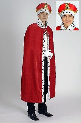 Kostüm König mit Krone 2tlg Kaiser Königskostüm Umhang Mantel - Kaiser Kostüm