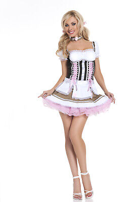 Sexy Adult Halloween Seven 'Til Midnight Heidi Ho Swiss Miss Costume size S/M - Swiss Miss Halloween Costume