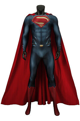 Superman Man of Steel Superman Clark Kent Costume Cosplay jumpsuits Halloween ](Superman Custom Costume)