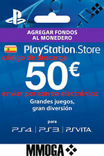 50€ Tarjeta Prepago PlayStation Network PSN PS3 PS4 PS Vita Código 50 Euro - ES