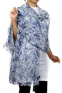 Guess clothing  Women's Fashion Scarf, 100% Silk, Light Blue  70