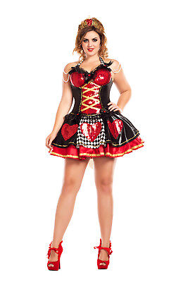 Off with their Heads Queen of Hearts Plus Size Adult Womens Costume - Plus Size Queen Of Hearts