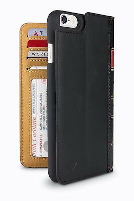 iPhone 6S/6 Twelve South BookBook Wallet ID Case Genuine Black Vintage Leather