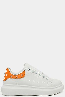Alexander Mcqueen replicas womens trainers size 7uk white with green