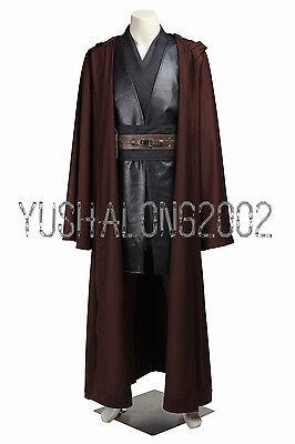 Star Wars Episode Anakin Skywalker Jedi Knight Cosplay Kostüm Costume Outfit (Anakin Skywalker Kostüm Episode 2)