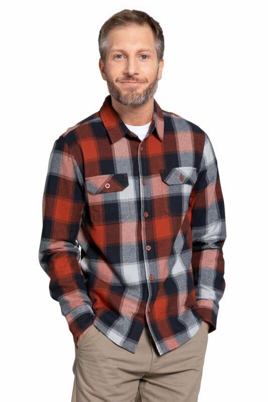 Mountain Warehouse Mens Flannel Long Sleeve Shirt 100% Cotton Breathable
