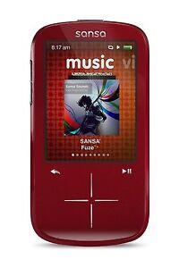SanDisk Sansa Fuze+ 4GB MP3 MP4 Player with FM Radio - Red