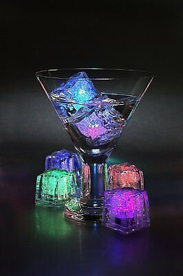 Multi Pack Multi color Rainbow LED Light up Ice Cube Glow Ice Cube FREE SHIPPING - Glowing Cubes