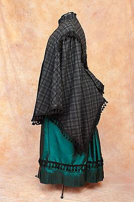 Viktorianisch Umhang Cape Mantel für Bustle Tournüre - Tournure Kostüm