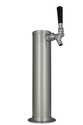 Kegco Dt145-1b 14 Brushed Stainless Steel 1-tap Draft Tower - Standard Faucet