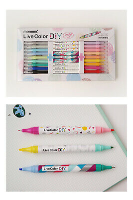 MONAMI [LIVE COLOR DIY SPECIAL SET] Pen Highlighter Writing supplies Stationery