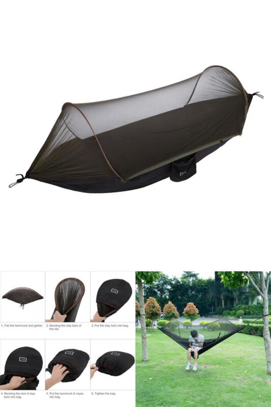 This item includes a 100% Money-Back Guarantee! If you're not completely  satisfied with your purchase for any reason, send it back in the same  condition ... - NEW Military Travel Camping Tent Parachute Hanging Hammock W POP