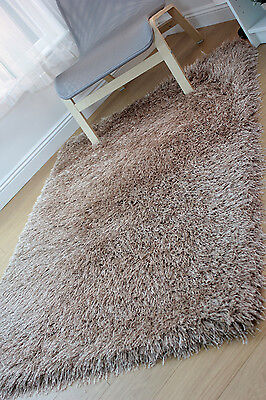 Modern Shaggy Very Thick 9cm Very Soft Touch Caramel Rug Variations Sizes Carpet