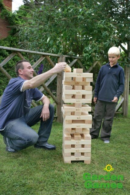 GIANT WOODEN JENGA HI TOWER 1.5M GARDEN PARTY GAME NEW