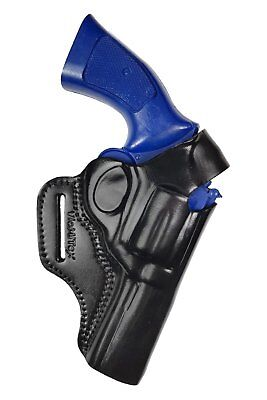 R4 Leder Revolver Holster SW 686 für 4 zoll S&W Smith Wesson schwarz VlaMiTex (Holster Revolver)