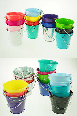 Large XL Metal Sand Water Paint Pails Buckets Party Favor Wedding Baby Shower (Party Favor Buckets)