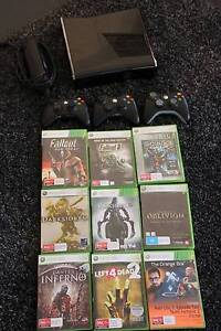 Xbox 360 slim, 250gb + 3 controllers and 9 (great) games Windsor Brisbane North East Preview