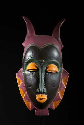 Art Contemporary African Mask Yohoure Brown