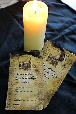 Guy Fawkes/Bonfire Night Invites x 8](Bonfire Invitations)
