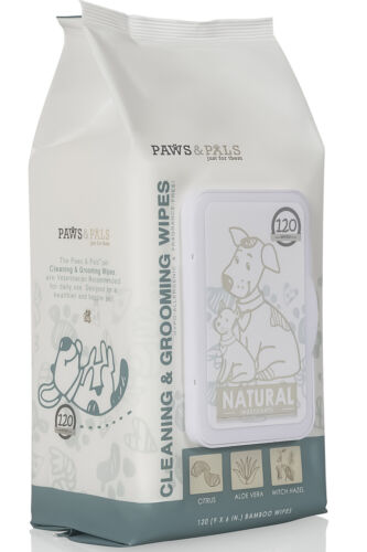 Dog Grooming Wipes Deodorizing Hypoallergenic for Pet Dogs/Cat Cleaning Dry Bath
