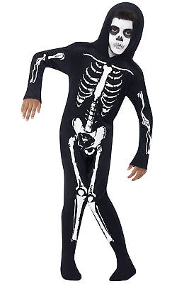 Kids Boys and Girls All in One Skeleton Costume Halloween Age 7-9yrs - Halloween Costumes For Boys And Girls