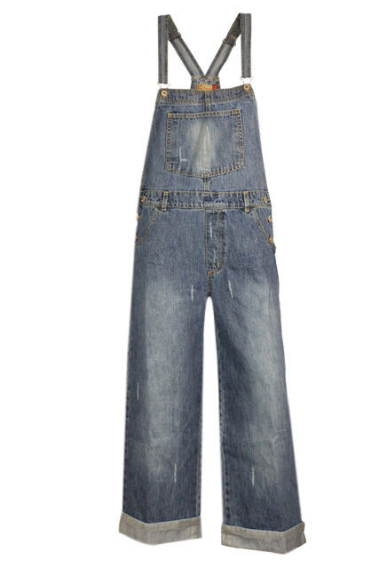 Rare London DESIGNER Ladies Womens Denim Capri 3/4 Dungarees Plus ...