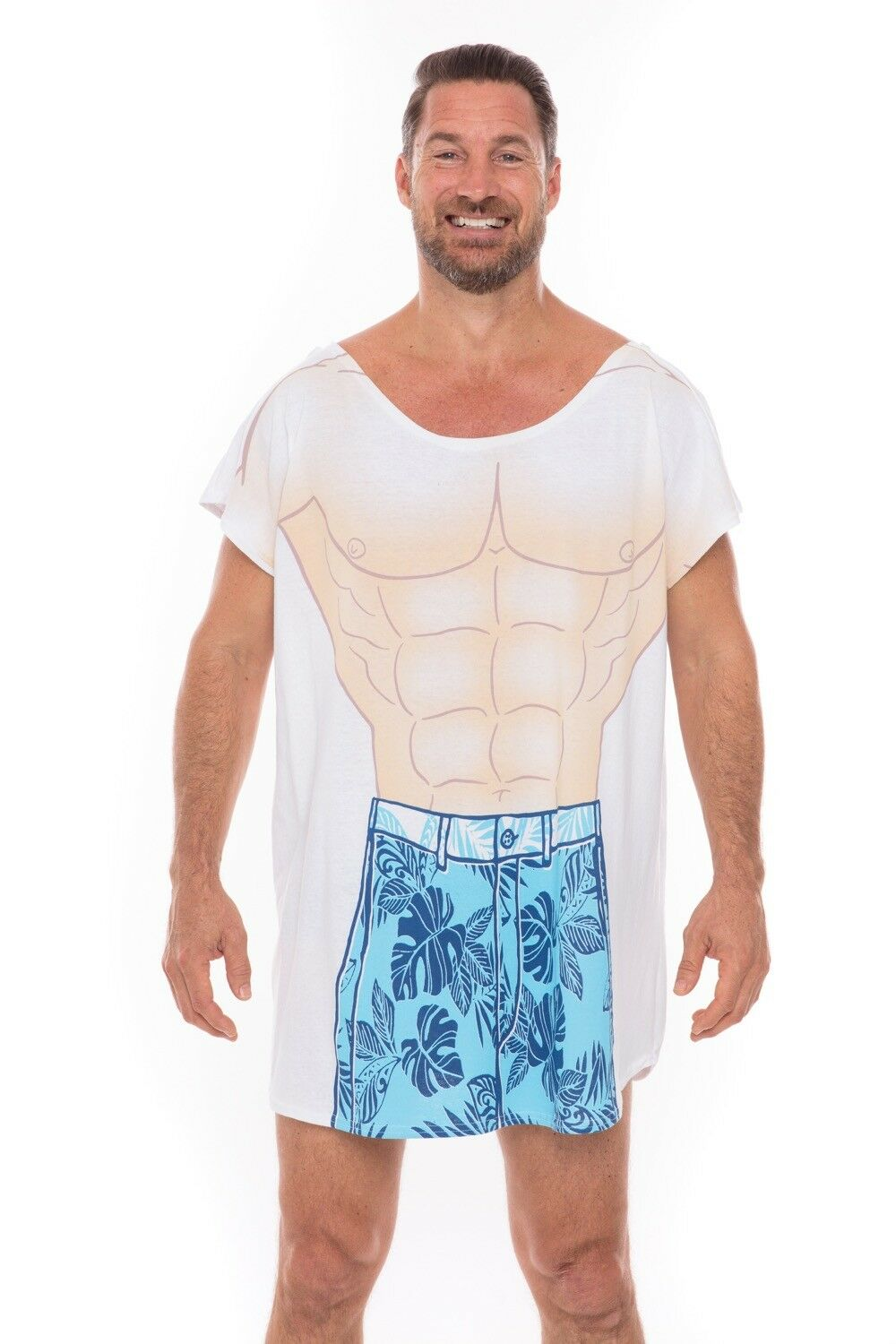 Tropical Sexy Muscle Cotton Cover Up Mens Beach Summer Swimw