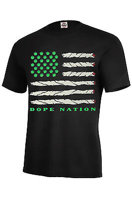 - Dope Nation T-Shirt Dope Assorted Color Best Seller Marijuana Adult Size S-5XL