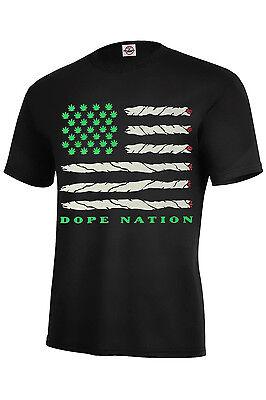 - Dope Nation T-Shirt Dope Assorted Color Best Seller Marijuana Adult Size S-5XL