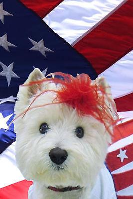WESTIE AMERICAN BEAUTY  GARDEN FLAG  RESCUE FREE SHIP USA