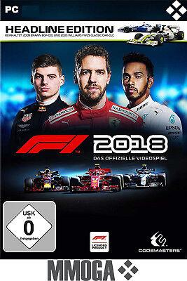 F1 2018 Headline Edition Key - PC Steam Spiel Digital Code [Rennspiele][DE/EU]