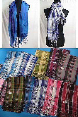 wholesale lot of 10 pashmina scarf soft long MEN WOMEN shawl wrap US SELLER
